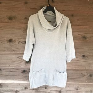 Kensie 3/4 Sleeve Cow Neck Sweater Dress Size Med